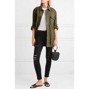 Frame Le Skinny De Jeanne Distressed Midrise Jeans
